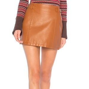 Free People Charli Vegan Mini Skirt